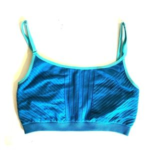 NIKE Blue Seamless Stretch Athletic Sports BRA M